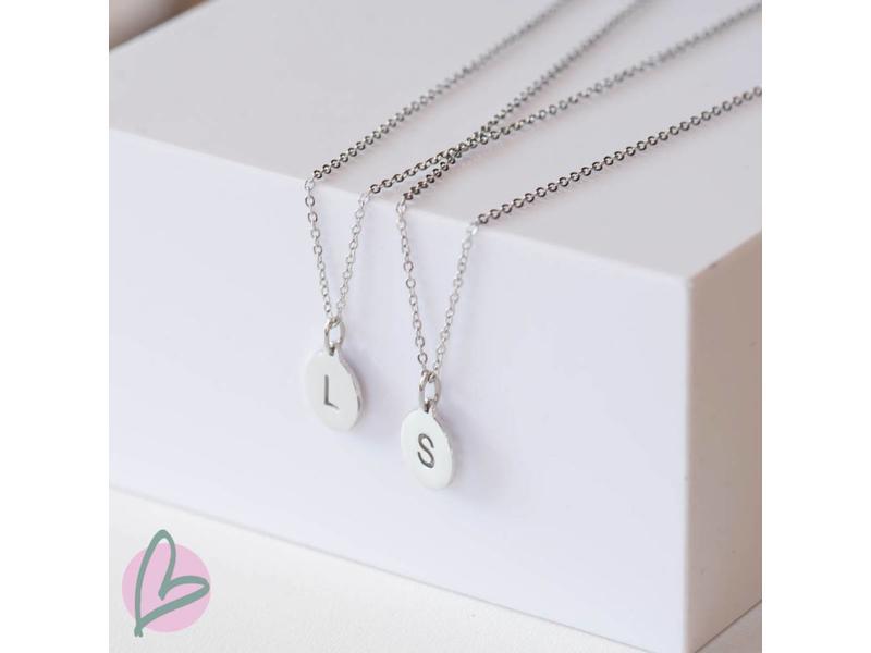 ZAG  Bijoux initial letter bedel zilver