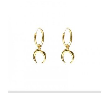 KARMA Hoops Symbols Tigertooth Goldplated