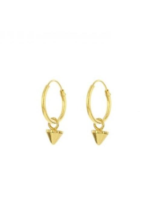 KARMA Hoops Symbols Mini Round Cone Goldplated