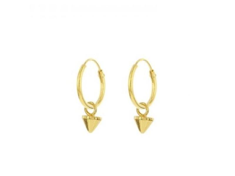 KARMA Hoops Symbols Mini Round Cone Goldplated