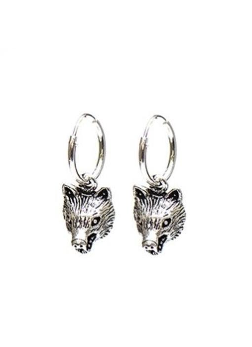KARMA Hoops Symbols Wolf - Silver 925