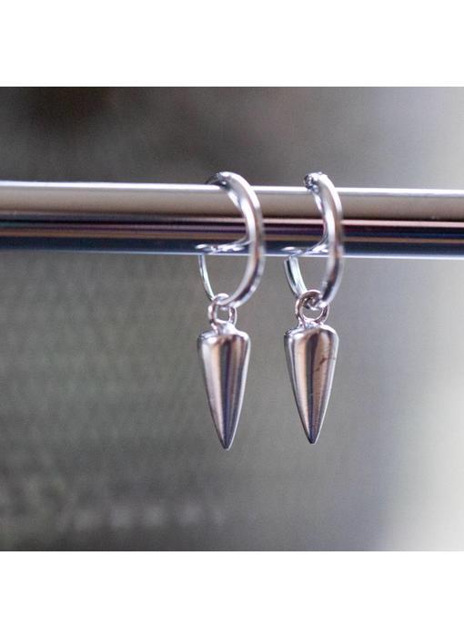 KARMA Hoops Symbols Round Cone Silver 925