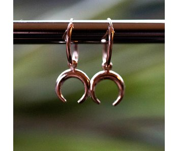 KARMA Hoops Symbols tigertooth rosegoud