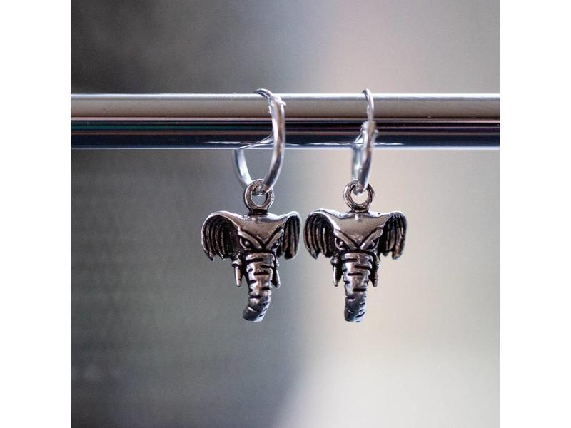 KARMA KARMA oorringen olifantje zilver