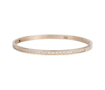 KalliKalli rosegouden bangle armband diamonds