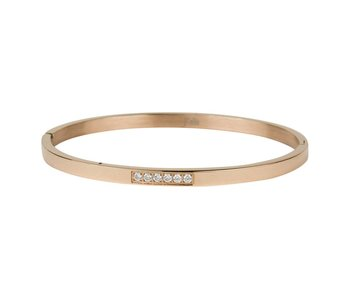 KalliKalli rosegouden bangle armband small diamonds