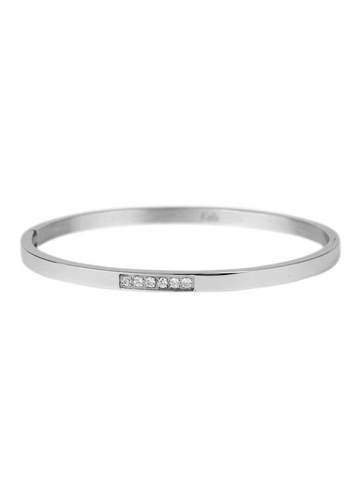 KalliKalli zilveren bangle armband small diamonds