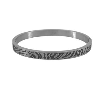 KalliKalli Bangle armband zilver tiger stripes