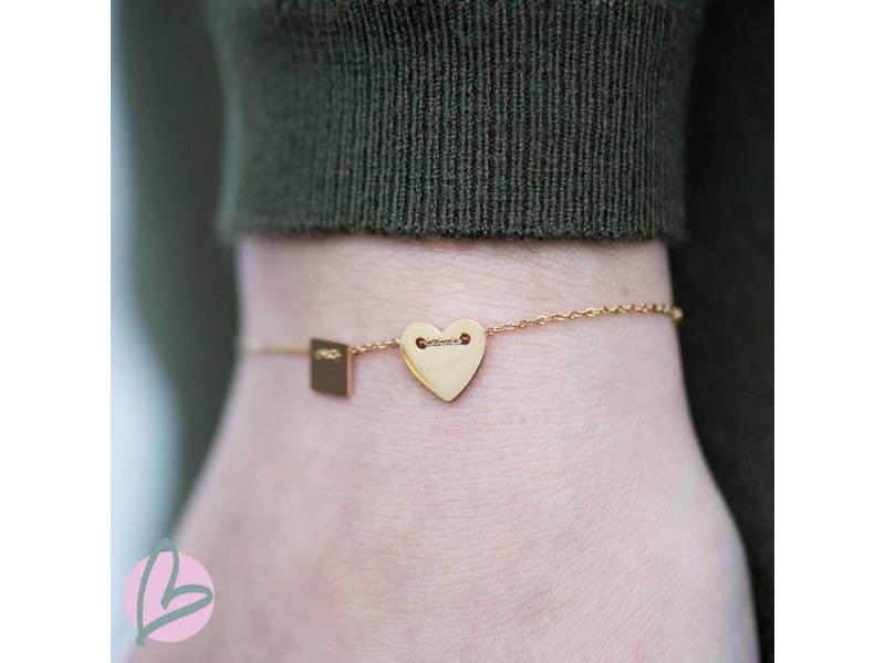 ZAG  Bijoux armband goud heart