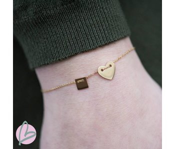 ZAG  Bijoux Armband goud met hartje