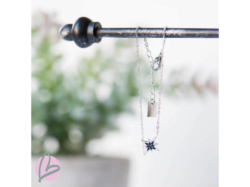 ZAG  Bijoux armband zilver met zilver/zwarte ster