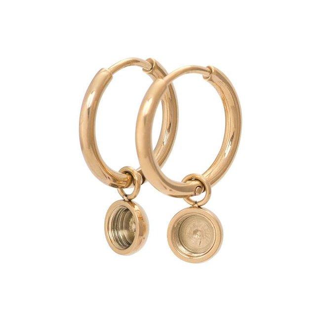 IXXXI top part base creool oorbellen goud klein 15mm