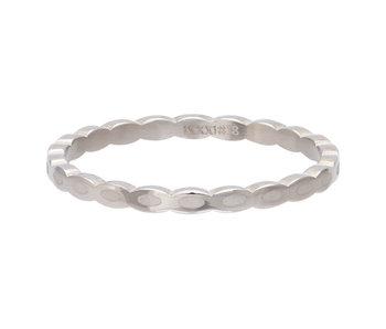 IXXXI aanschuifring 2mm oval shape zilver