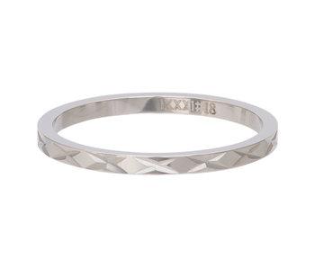 IXXXI aanschuifring 2mm X Row zilver