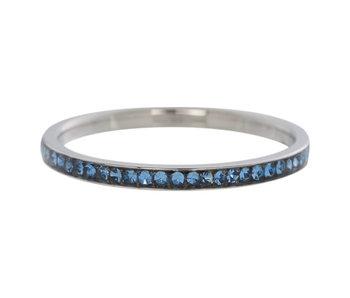 IXXXI aanschuifring 2mm zirconia light saphire zilver