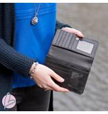 Zeeuws Echt leren zeeuwse knop portemonnee zwart