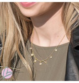 Beadle ketting little coins goud