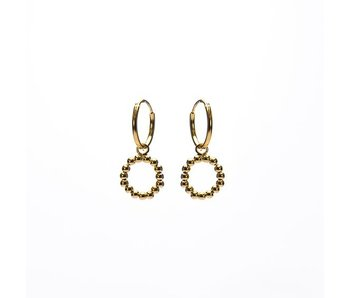 KARMA Hoops Symbols Open Circle DOTS Goldplated