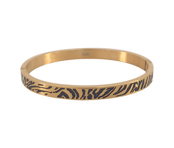KalliKalli Bangle armband goud tiger stripes