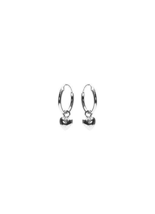 KARMA Hoops Symbols Heart 2 - Silver 925