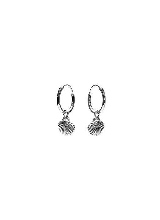 KARMA Hoops Symbols Shell - Silver 925
