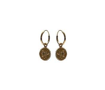 KARMA Hoops Symbols Sun Coin Goldplated
