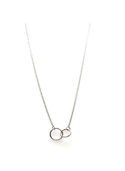 KARMA Karma Necklace Double Circle - Silver 925