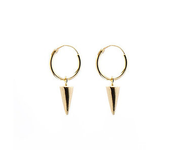 KARMA Hoops Symbols Round Cone Goldplated