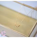 ZAG  Bijoux gouden ketting met vierkante gouden kralen