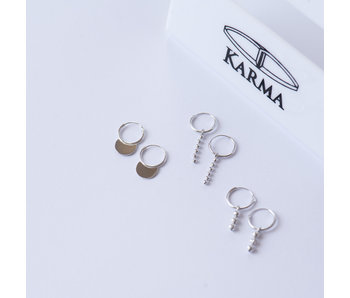 KARMA Hoops Symbols Tiny Dots Chain - Silver 925