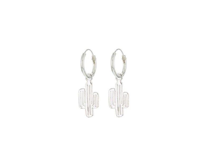 KARMA Hoops Symbols Cactus - Silver 925