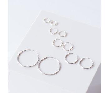 KARMA zilveren creool oorbellen