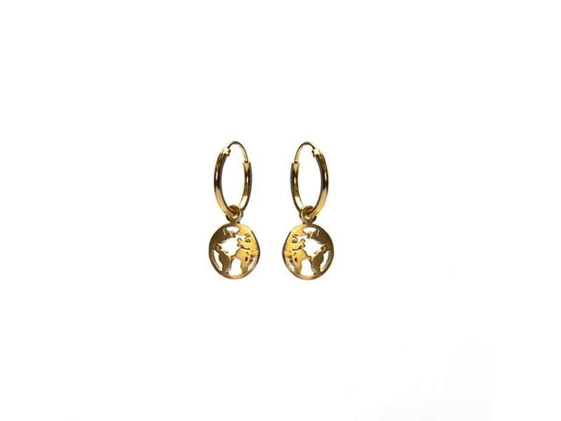 KARMA Hoops Symbols Earth Goldplated