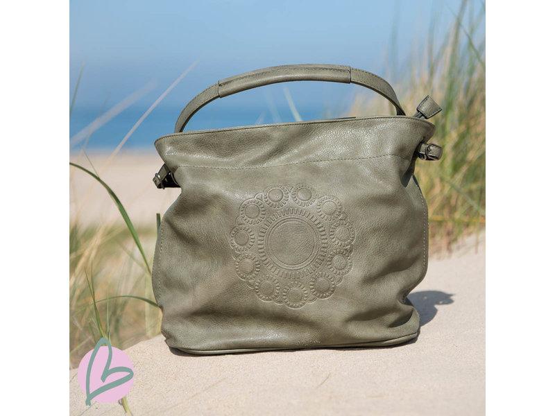 Zeeuws Zeeuwse knop tas groen