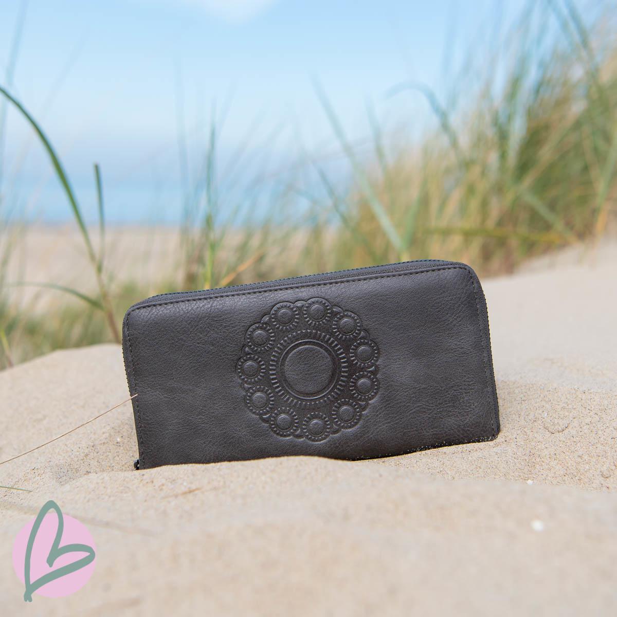 Zeeuwse knop portemonnee grijs