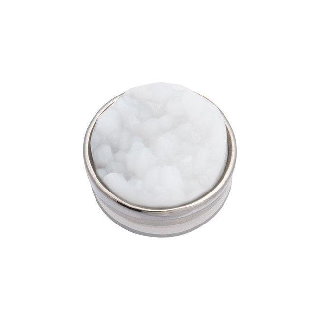 IXXXI top part drusy white zilver