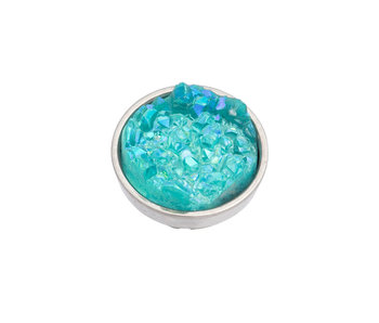 IXXXI top part drusy green (turquoise) zilver