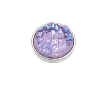 IXXXI top part drusy purple zilver