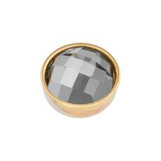 IXXXI top part facet black diamond goud