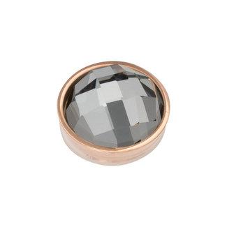 IXXXI top part facet black diamond rosegoud