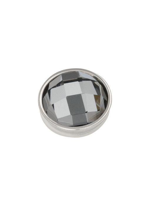 IXXXI top part facet black diamond zilver