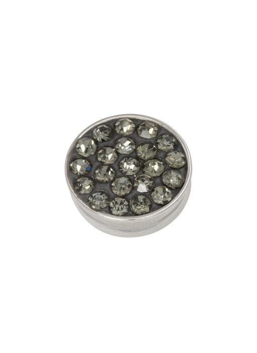 IXXXI top part black diamond stones zilver