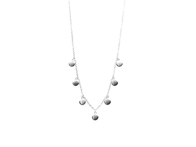 KARMA Karma Necklace 7 Discus (muntjes) Silver 925