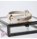 Zeeuws beige leren armband met Zeeuwse knop