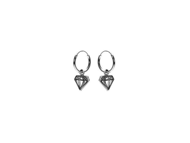 KARMA Hoops Symbols Diamond - Silver 925