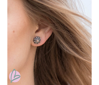 Zeeuws Zilveren Zeeuwse knop oorstekers (diverse maten)
