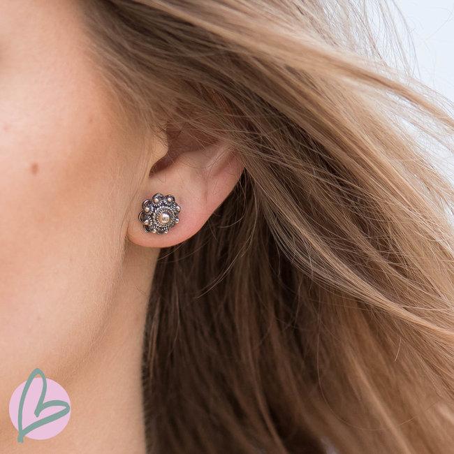 Zeeuws Zilveren Zeeuwse knop oorstekers