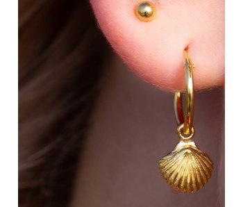 KARMA Hoops Symbols Shell Goldplated