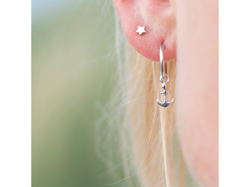 KARMA Hoops Symbols Anchor - Silver 925