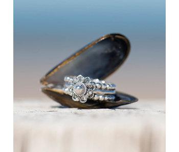 Zeeuws Zilveren Zeeuwse knop ring 10mm met bolletjes